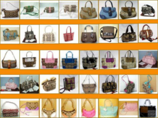 Blur Photo of Coach Handbags Collection